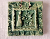 Lady Gardener Mini Tile in Sage