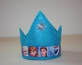 FROZEN CROWN. everyday crown. blue crown, frozen clan with silver snowflake