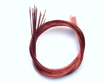 Mizuhiki Japanese Decorative Paper Strings Cords METALLIC Red And Silver