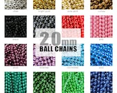 Ball Chain Necklaces 2.0mm Colored Ball Chains. Pendant Chain. Necklace Chain. DIY Chain. Choose Your Mix of Colors.  Annie Howes. 25 Pack.