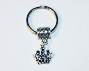 Silver CROWN Key Chain Key Ring Key Holder Key Fob KC-Gen003B/AM