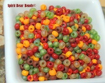 Indian Summer Czech Seed beads Size 6/0 seed bead mix 50 grams