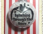 Synchronized Swimming Synching through the Snow Christmas Ornament
