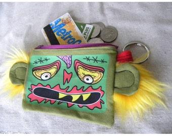 Zombie - coin purse - wallet - humor -MTO