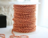 Reserved listing for Sarah Barlekamp Copper Ball Chain, 2.4mm ball chain. Solid copper 30ft length, includes 16 connectors.