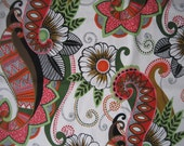 cotton fabric by Alexander Henry - Masai Paisley print - OOP - large scale, tribal inspired, whimsical- yardage