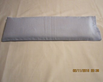 White and Blue Gingham X-LARGE Cozy Comforts (filled with Flax Seed) Heat and Cold Packs (Unscented or Lavender)*