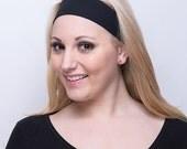 Black Headband, Womens Headband, Plain Black Headband, Simple Black Headband, Black Head Band, Solid Color Headband, Solid Colored Headband