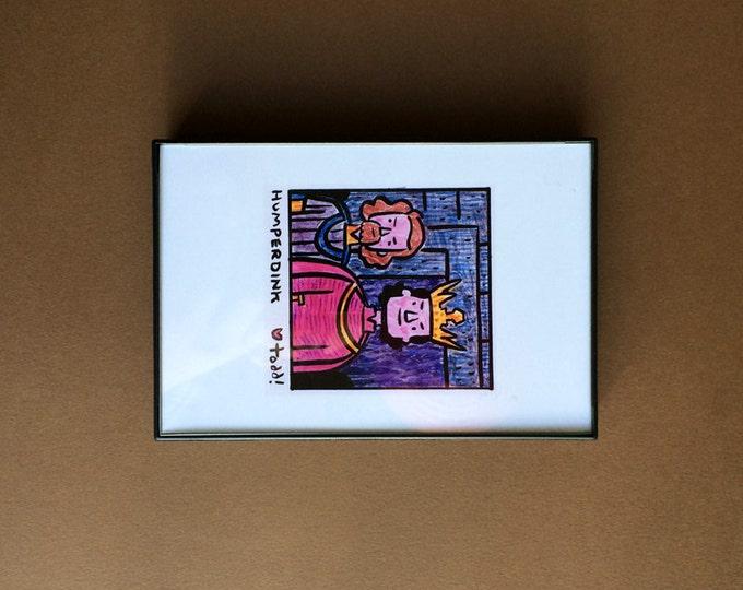 The Princess Bride, Prince Humperdink, Art, Print, 4 x 6 inches, movies, Rob Reiner, framed art, illustration, wall decor, Chris Sarandon
