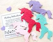 10 Unicorn Birthday Party Favors - Seed Paper Plantable Unicorns - Fairy Princess Birthday Favor - Baby Shower Favors