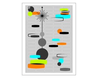 Disportation Art Print Modern Abstract by Tonya Newton in Various Sizes & Papers
