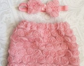 Newborn Skirt and Bow set - Newborn Photography Prop - Skirt is See through