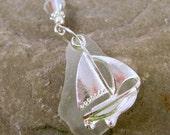 Sea Glass Pendant Sea Glass Necklace Sea Glass Jewelry N-321
