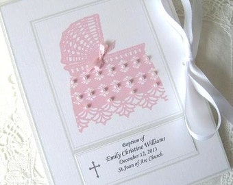 Personalized Photo Album Baby Girl Gift, Baptism Girl Gift - Hand Beaded Baby Shower Gift, New Born Gift 5x7 or 6x7.5