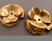 4 Brass Flower Stackable Finding Component