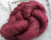 Silk Yarn - Hand Dyed worsted weight - Shade: Damask Rose