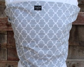 ORGANIC COTTON Baby Wrap Sling Carrier-Gray Lattice on White-DVD Included-One Size Fits All-Newborn -Toddler