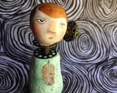 Garland. Original Clay Art Doll