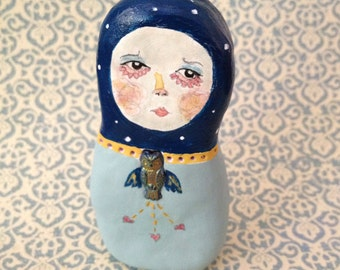 Rory the Russian Doll. Original Clay Art Doll