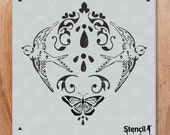 Nature Damask Repeat Pattern Wall Stencil- Reusable Craft & DIY Stencils- S1_PA_79 -11x11- By Stencil1