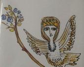 Woman Bird decorative plate