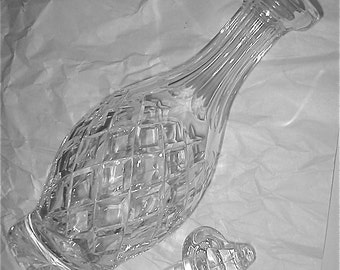 Waterford Comeragh Decanter - Leaded Crystal Glass Wine and Cordial Carafe - Marked on Base - Vintage Irish Crystal Barware
