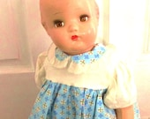 UnMarked Patsy Style doll with vintage dress and slip vintage etsy dolls