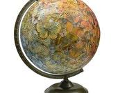 Butterfly Swarm, Vintage Globe Art
