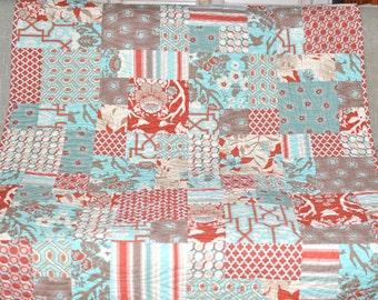 Modern Rustic Lodge Deer Valley Quilt Blanket Bedding Sofa Patchwork Quilt
