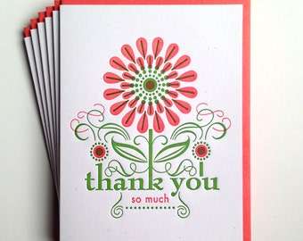 Daisy Thank You Card - set of six