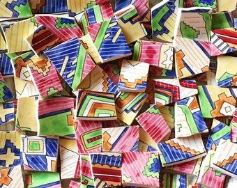 Mosaic Tiles--Patchwork-100 Tiles