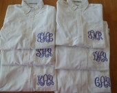 Personalized OVERSIZED oxford shirt button down Monogrammed bridesmaid shirt bride shirt EMBROIDERED