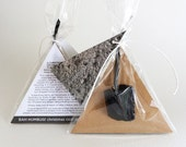 Christmas coal decoration. A cast plaster gift handmade in Australia by Kuberstore