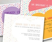 Hearts of Love Event Invitation (printable - valentine, sherbet, bold, and neutral color options)