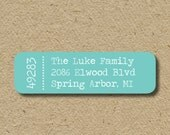 Modern return address stickers, self-adhesive -  custom address labels - address stickers - zip code - customized in any color