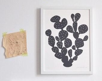 Paddle Cactus Print