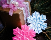 Snowflake Soap, Winter Soap, Frozen Party Favor, Teacher Gift, Birthday Party, Disney Party, Holiday Gift, Stocking Stuffer, Winter Wedding