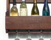 Rustic Wine Rack, Bottle Storage and Display, Safe Alternative Pallet Style Organizer