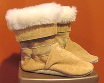 Soft Sole Fur Trim Leather Infant Winter Baby Boots 18 to 24 Month