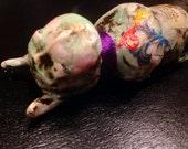 Handmade clay doll supplies horns woodland  fairy goddess nymph ceramic  clay face  handmade  polymer and ceramic  clay