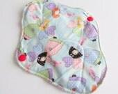 Cloth Mama Pad / Reusable Cloth Pad  - Angels Printed 8 Inch FREE Shipping