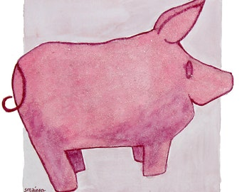 Pinky the Beaded Pig: a print