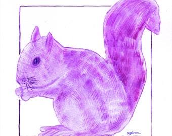 Squirrel, Purple Squirrel, Squirrel art, Purple squirrel art, purple squirrel print, purple squirrel, Human Resources Hero