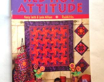 Red Hot Attitude Quilting Book Nancy Smith Lynda Milligan