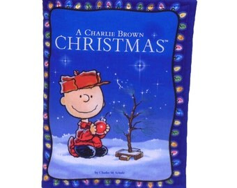 SOFT BABY BOOK - Made From Peanuts Charlie Brown Christmas Fabric