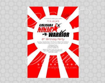 American Ninja Warrior Digital Birthday Invitation - Printable 5x7 Invite