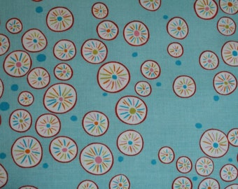 Modern Rosette Circles on Cerulean Blue ~ WRENLY collection by Valori Wells for Free Spirit vw36-cerulean ~ By the fat quarter or half yard