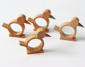 Vintage Bakelite Bird Napkin Rings, Set of 4