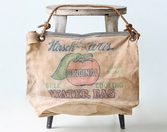 Vintage Water Bag - Hirsch Weis Water Bag, Tomato