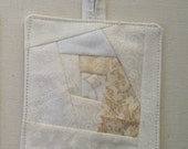Crazy Quilt Ornament Winter white #04